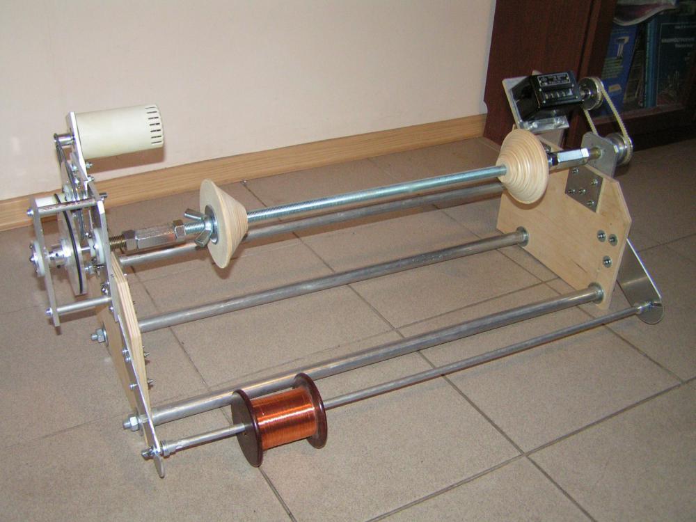 Самодельный намоточный станок. - в домашнюю мастерскую - практика - в помощь радиолюбителю