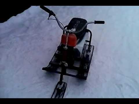 Снегоход из бензопилы своими руками - как сделать из урала и не только