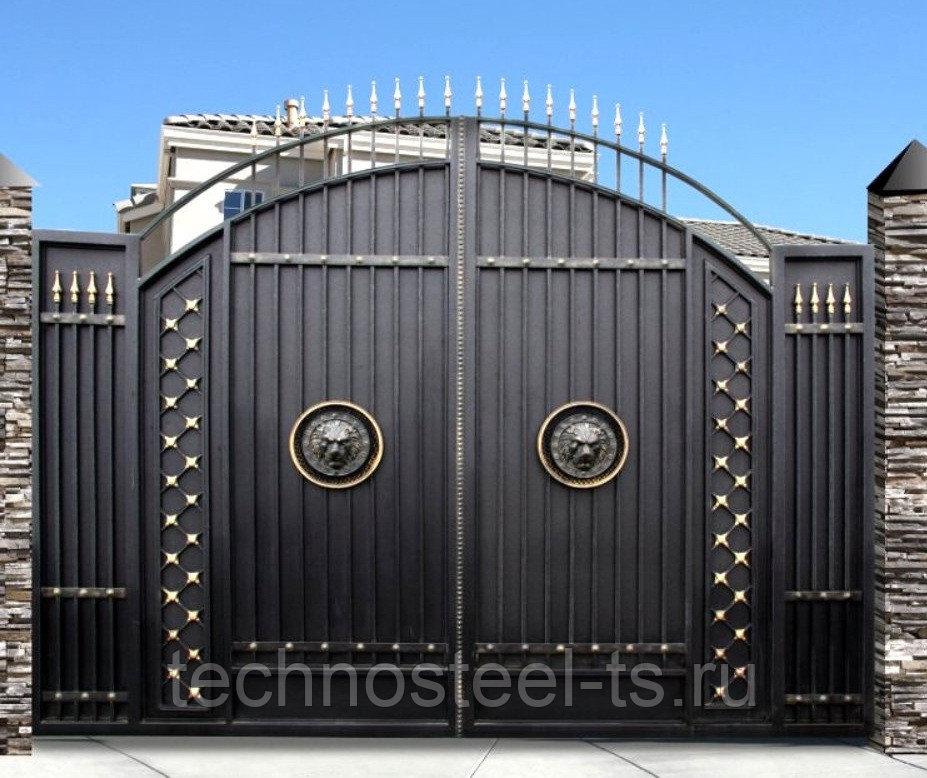 Кованые ворота: выбор, нюансы сборки и красивого оформления