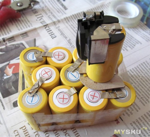 Шуруповерт аккумуляторный – замена акб на li-ion