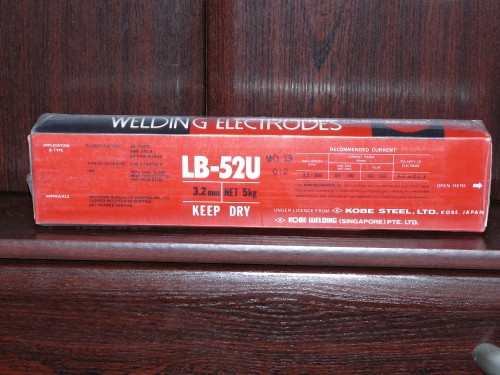 Описание характеристик электродов lb-52u