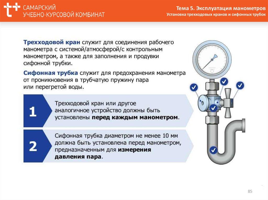 Требования к манометрам на трубопроводах - пожарная безопасность