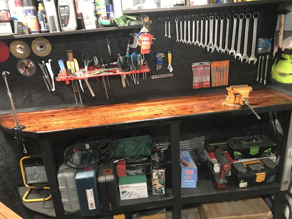 Слесарный верстак для гаража своими руками