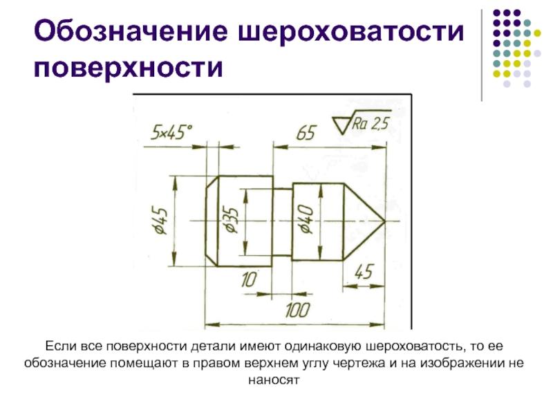 Как определить и обозначить шероховатость поверхности