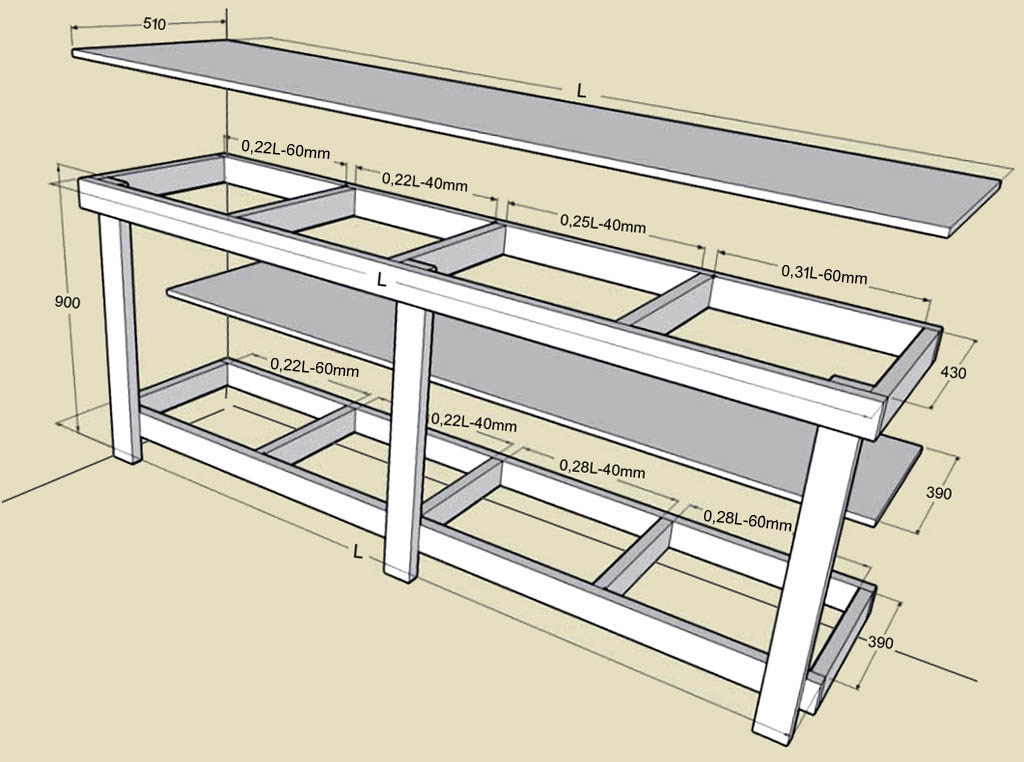 Как сделать верстак в гараж своими руками: чертежи, размеры, изготовление
