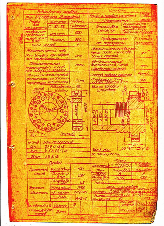 Спецификация органов управления токарно -револьверного станка 1341