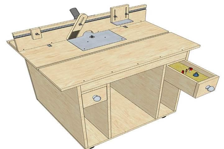 Фрезерный стол своими руками: где найти простой чертеж с размерами, как самому сделать столешницу и пластину, изготовление мебели для ручного фрезера по дереву