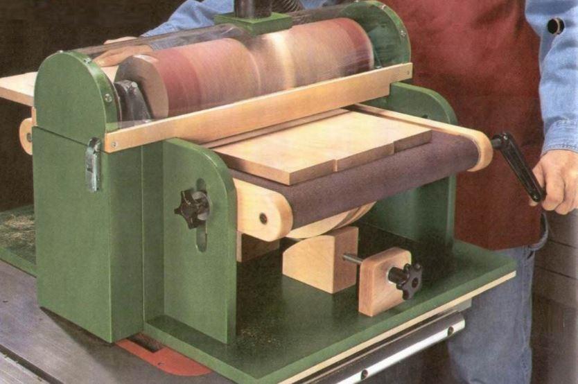 Барабанный шлифовальный станок по дереву своими руками - справочник по металлообработке и оборудованию