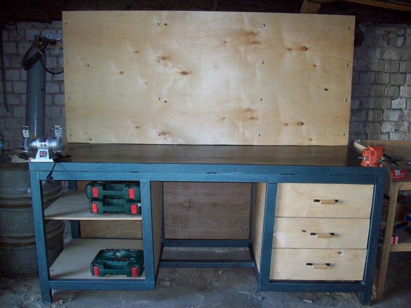 Верстак в гараж своими руками - деревянный и металлический
