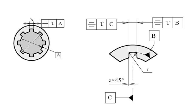 Расчет шлицевого эвольвентного соединения