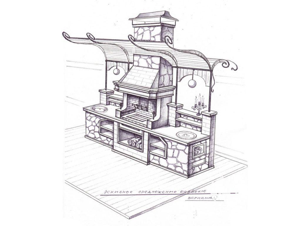 Мангал из кирпича - чертежи, проекты и лучшие конструкции, которые можно сделать своими руками