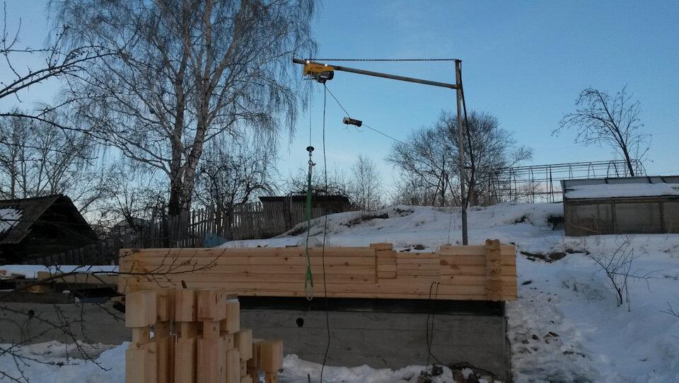 Как сделать подъемный кран для стройки   дача сад огород