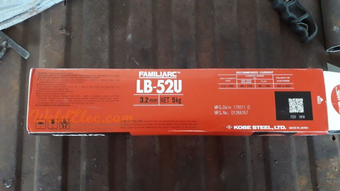 Электроды lb 52u: расшифровка, характеристики