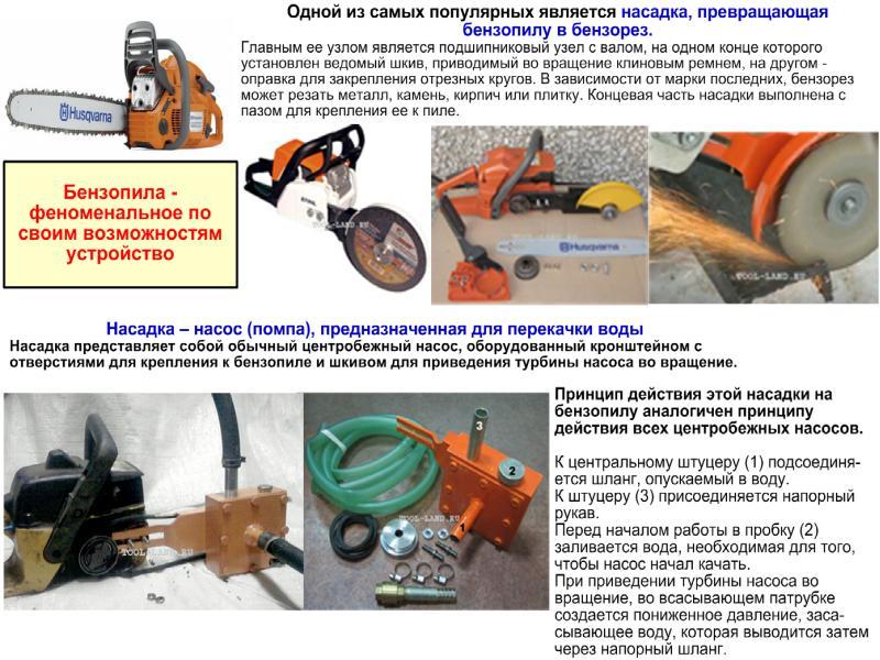 Насадки на бензопилу: полезное функциональное дополнение к инструменту