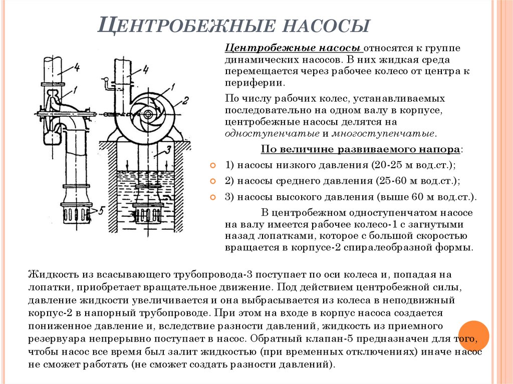 Что такое центробежные насосы? принцип работы и устройство