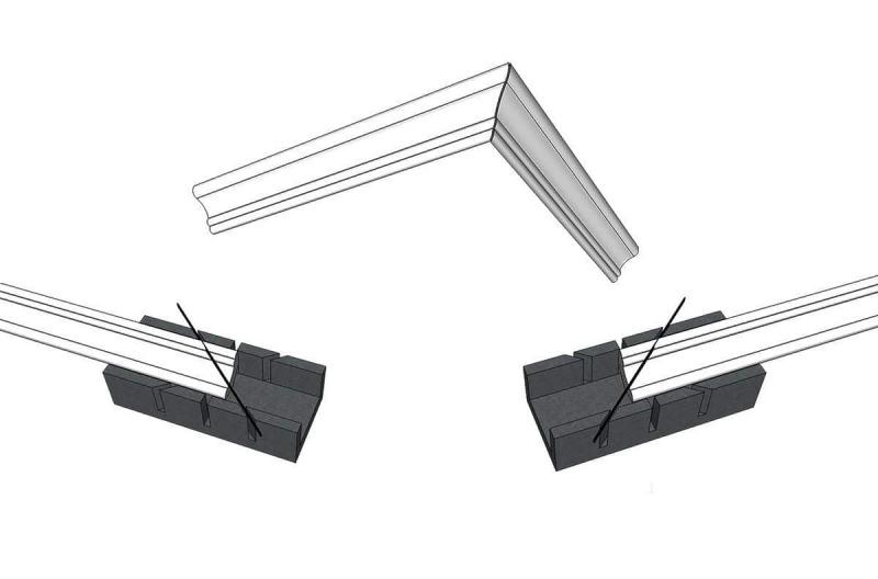 Как сделать угол на потолочном плинтусе - строительство и ремонт