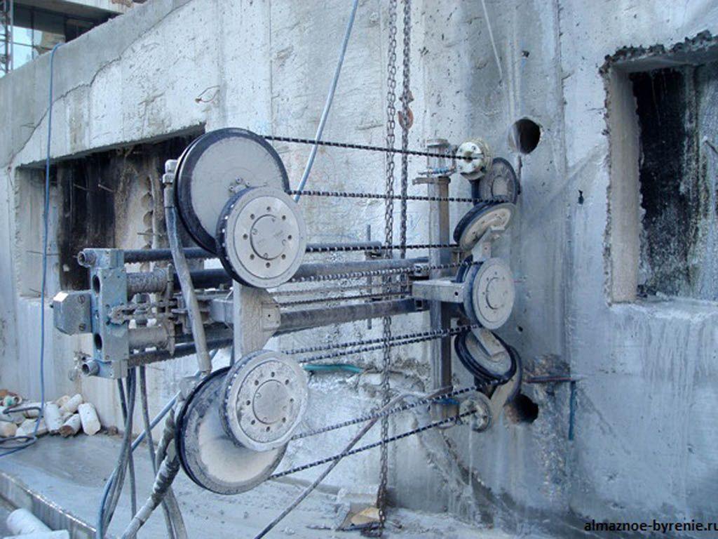 Канатная резка – передовая технология резки бетона