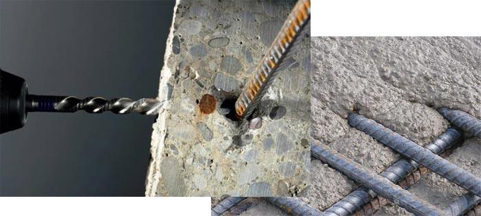 Чем просверлить арматуру в бетонной стене? - рецепты мира