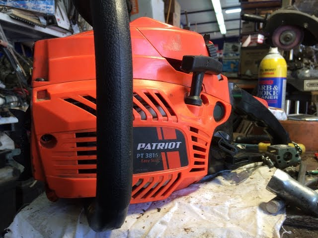 Бензопила patriot pt 3816 — доступная модель импортного производства