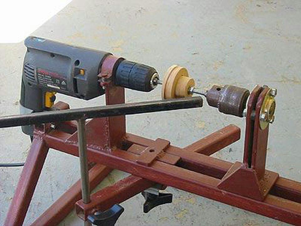 Токарный станок из дрели: как сделать своими руками станок по дереву, металлу, видео