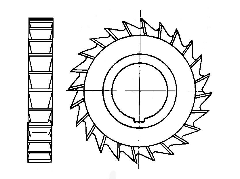 Фреза дисковая по металлу