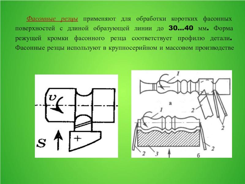 Токарная обработка фасонных поверхностей: виды резцов и порядок работы