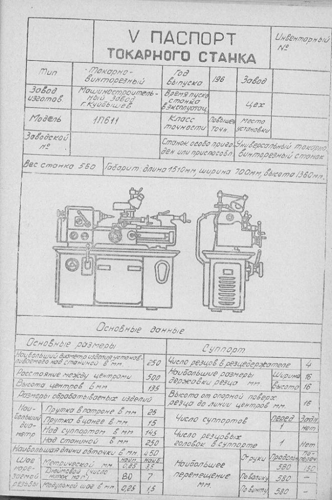 Токарный станок 1п611: описание, характеристики, обзор функций