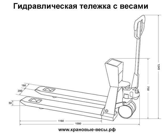 Вилочный погрузчик или гидравлическая тележка рохля