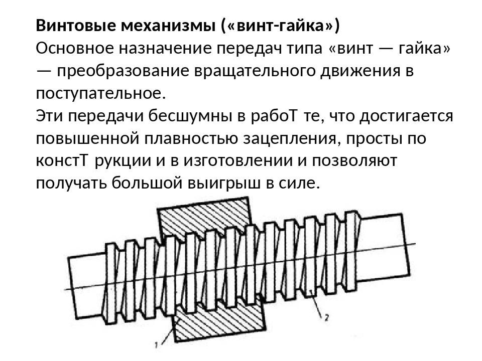 Изготовление и применение шарико-винтовых пар