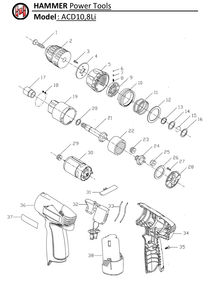 Ремонт кнопки шуруповерта — инструкция и схема