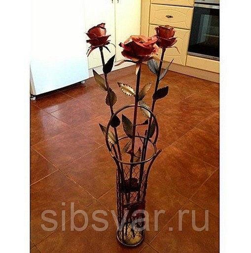 Кованная роза - инструкция по изготовлению с фото