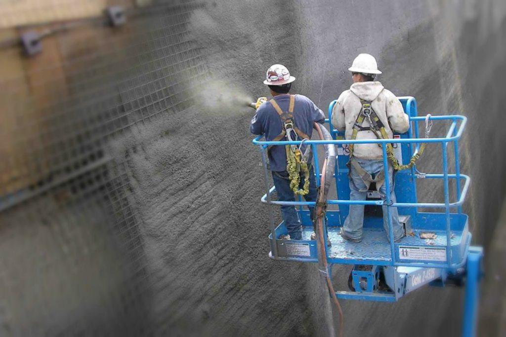 Торкрет бетон: напыление, приготовление смеси