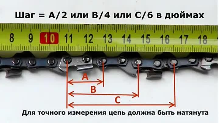 Как посчитать звенья цепи бензопилы. маркировка цепей для бензопил