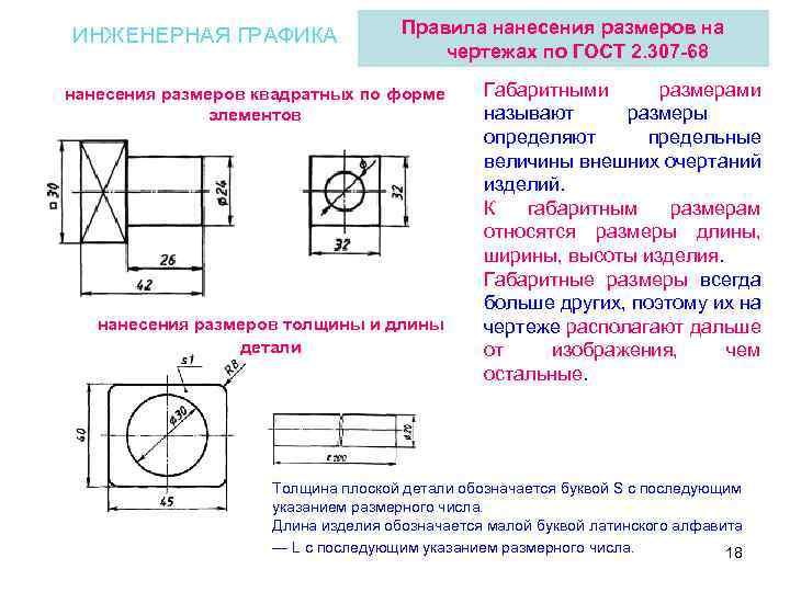 Нанесение размеров на чертежах — правила и примеры обозначений