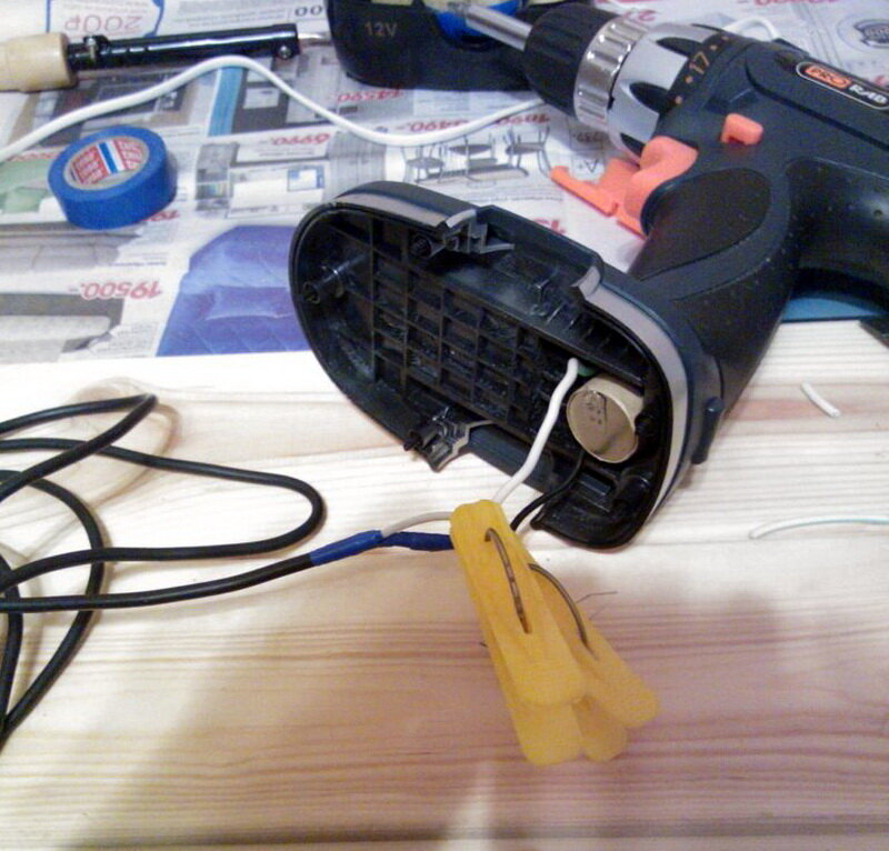 Как переделать аккумуляторный шуруповерт в сетевой для работы от сети 220 вольт: пошаговые инструкции, видео