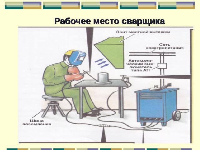 Какие ключевые требования предъявляют к организации рабочего места сварщика ручной дуговой сварки?