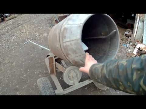 Бетономешалка своими руками: 3 варианта изготовления