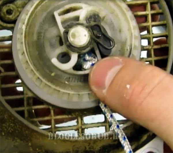 Стартер для бензопилы. учимся самостоятельному ремонту