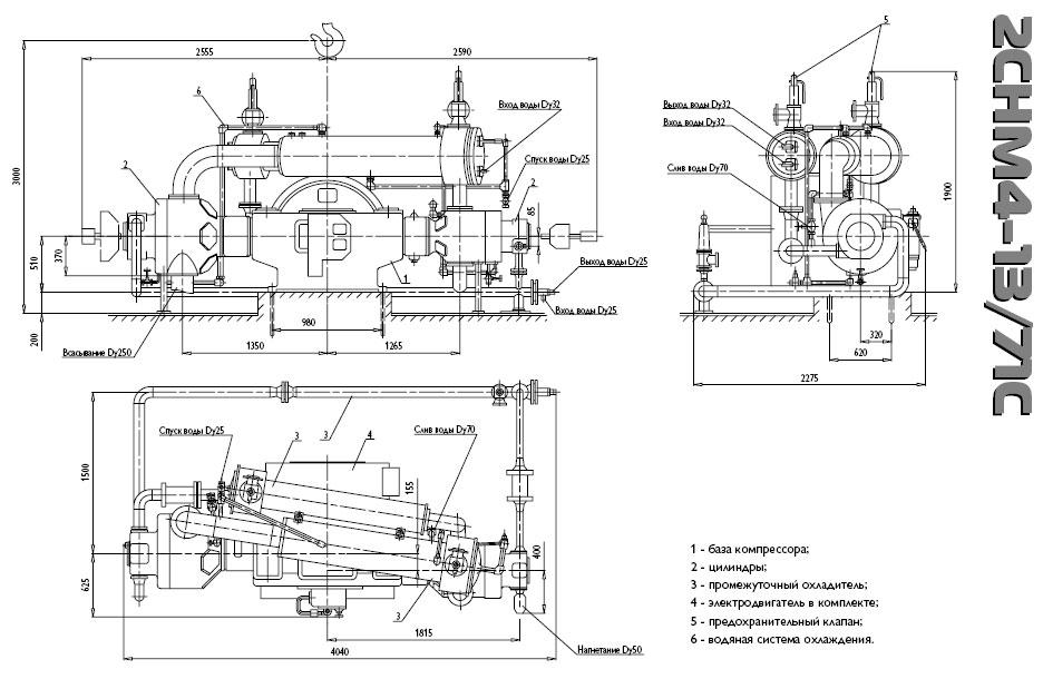 Поршневые компрессоры воздушные