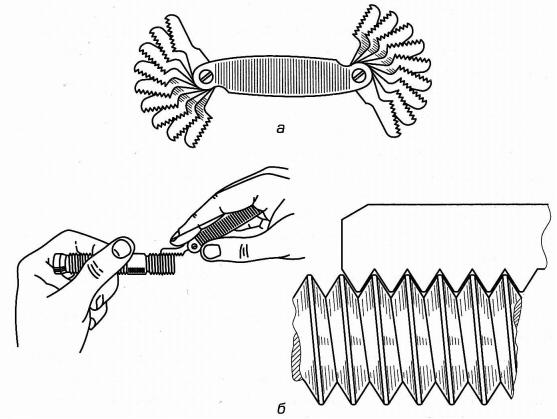 Инструмент для измерения внутренней и внешней резьбы - морской флот