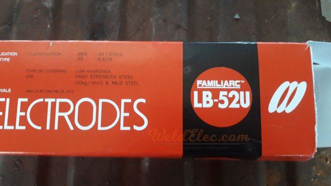 Сварочные электроды kobelco lb - 52u: характеристики, примение
