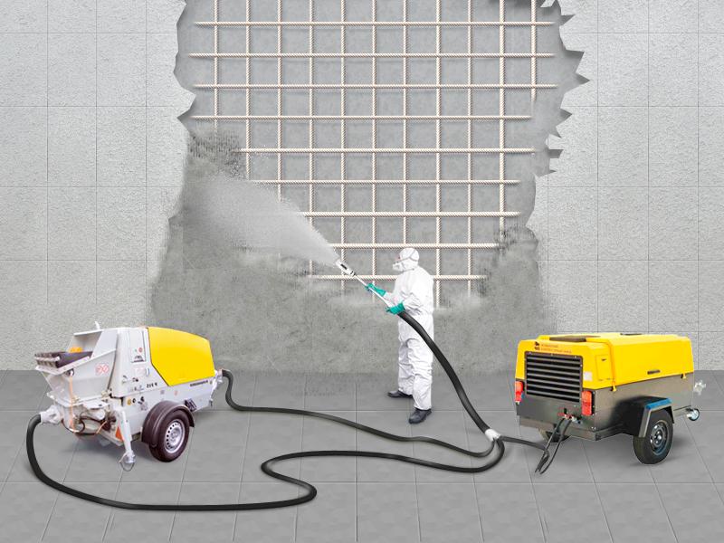 Технология торкретирования при бетонировании