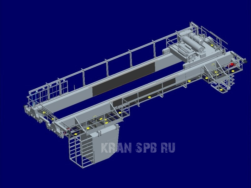Мостовой электрический двухбалочный опорный кран