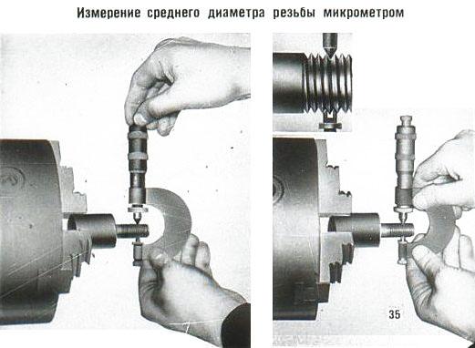 Как измерить средний диаметр резьбы тремя проволочками