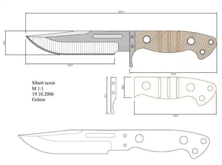 Метательные ножи: чертежи с размерами оружия, процесс изготовления своими руками