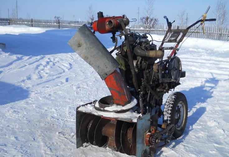Снегоуборщик для мотоблока своими руками (видео)