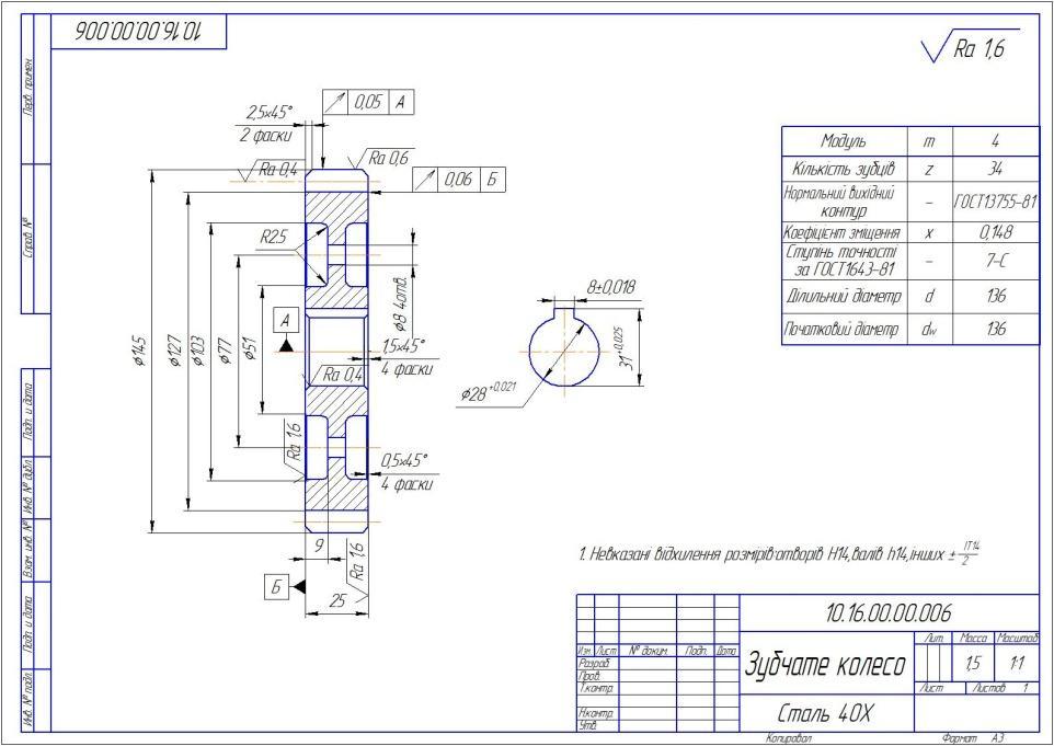 Гост 2.403-68единая система конструкторской документации. правила выполнения рабочих чертежей цилиндрических зубчатых колес