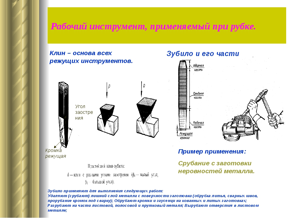 Слесарная рубка металла: инструменты, приемы, правила