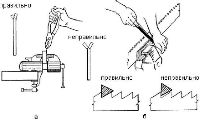 Как наточить ножовку по дереву в домашних условиях — пошаговая инструкция