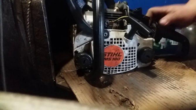 По каким причинам бензопила stihl ms 180 не заводится